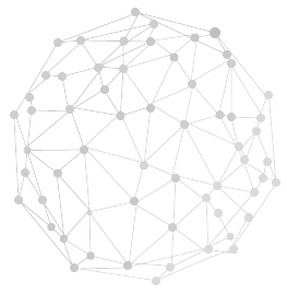 Sphere connected with gray dots